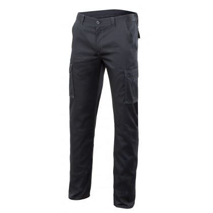 Pantalon Stretch Multibolsillos - Negro