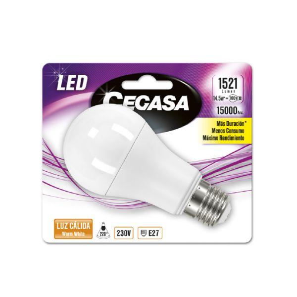 LAMPARA CEGASA LED STANDARD 14.5W E27 CALIDA 1521LM
