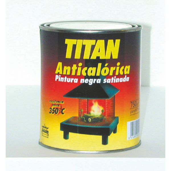 PINTURA ANTICALORICA TITAN NEGRA (0302) 125ml
