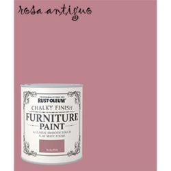 PINTURA MUEBLES ROSA ANTIGUO Rustoleum Chalky Finish 125ml